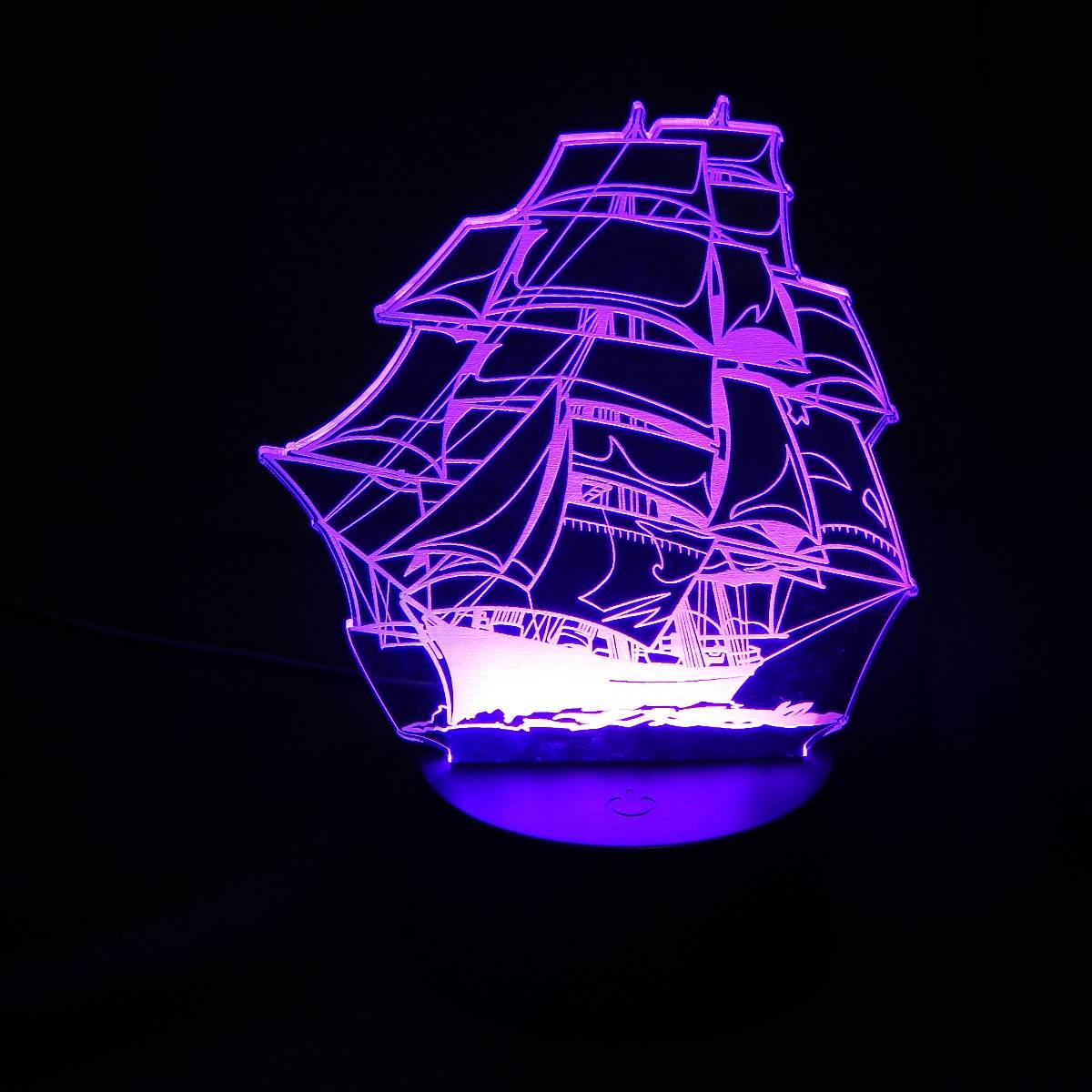 Lampu Meja Lampu Tidur Lampu Hias Kapal LED 3D Tradisional3