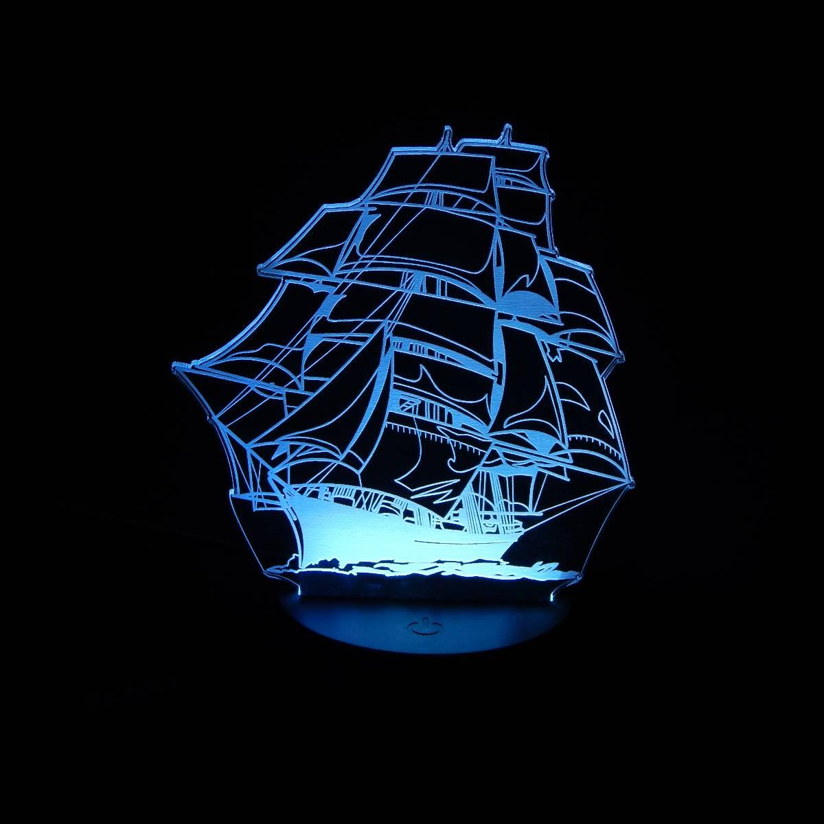 Lampu Meja Lampu Tidur Lampu Hias Kapal LED 3D Tradisional4