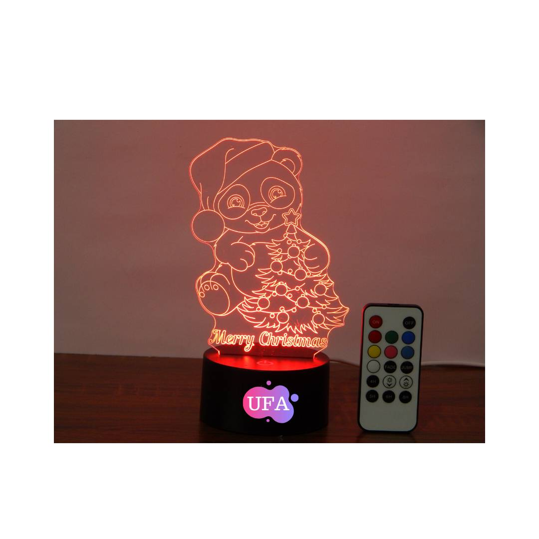LAMPU TIDUR BAMBY MERY CHRISTMAS UFA LIGHT LED 3D