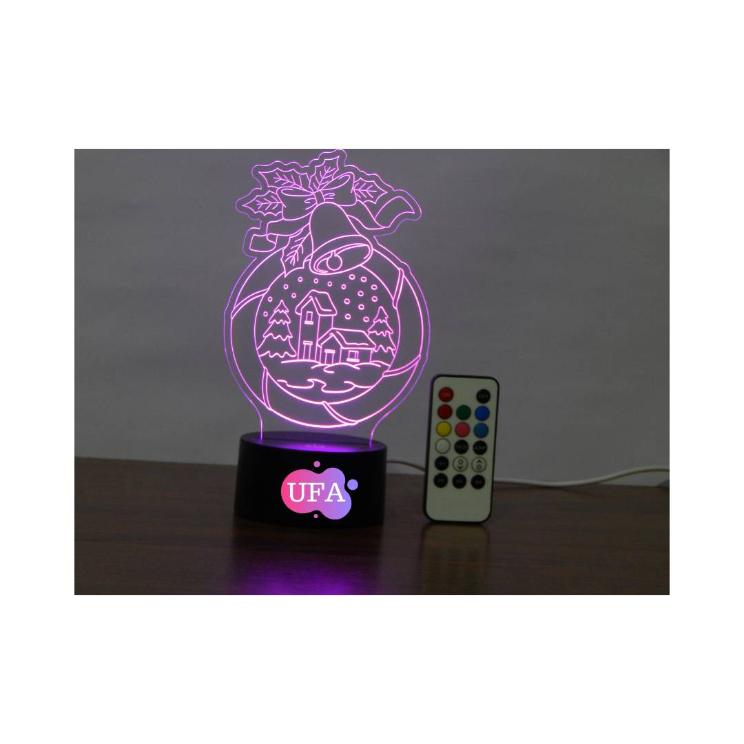 LAMPU TIDUR CHRISTMAS HOME UFA LIGHT 3D LED RGB 7 WARNA
