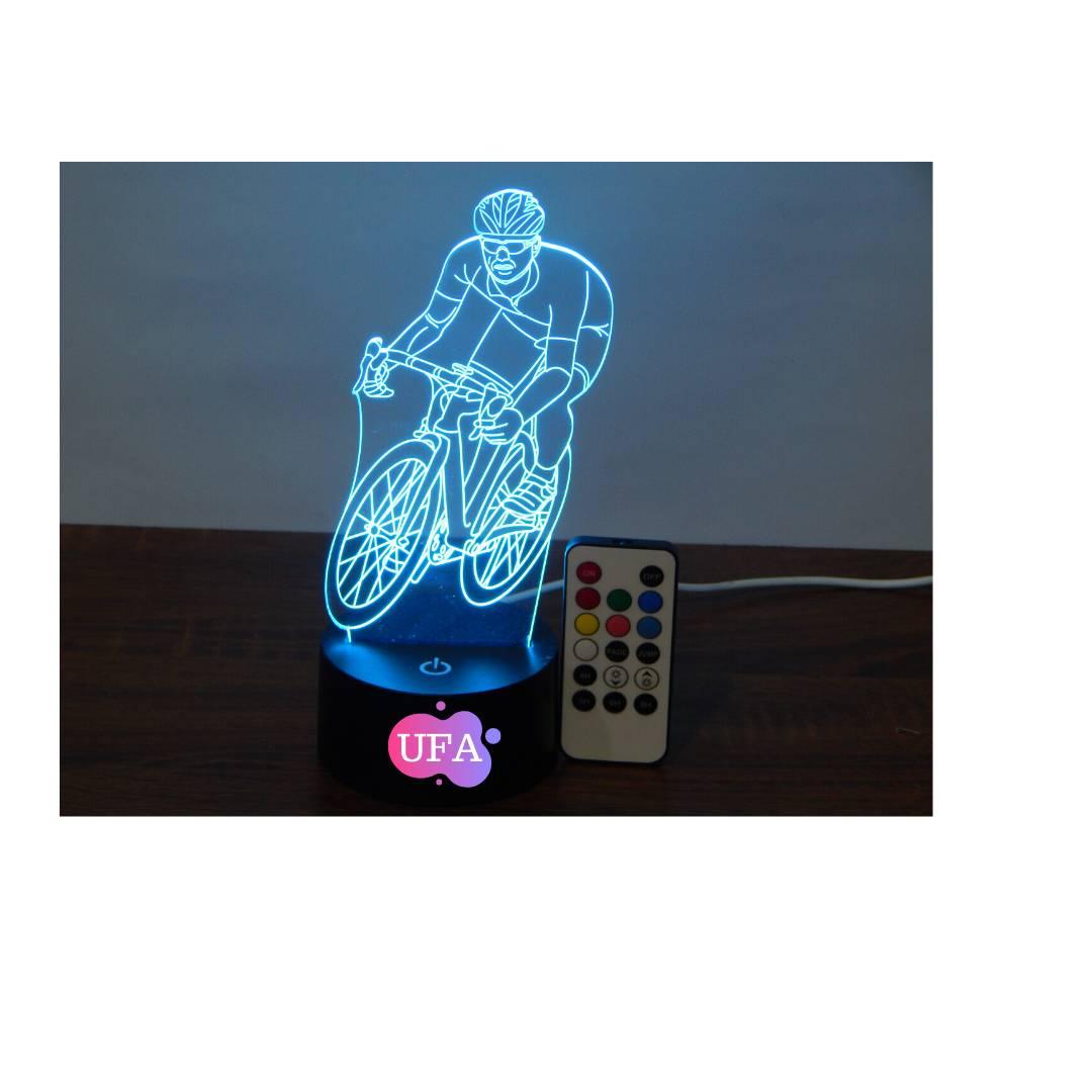 LAMPU TIDUR RIDING BIKE UFA LIGHT 3D LED LAMP RGB 7 WARNA