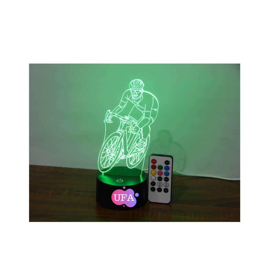 LAMPU TIDUR RIDING BIKE UFA LIGHT 3D LED LAMP RGB 7 WARNA1