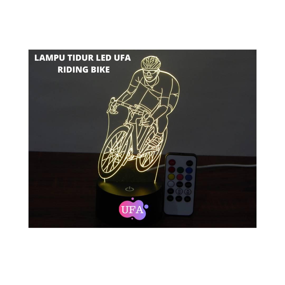 LAMPU TIDUR RIDING BIKE UFA LIGHT 3D LED LAMP RGB 7 WARNA2