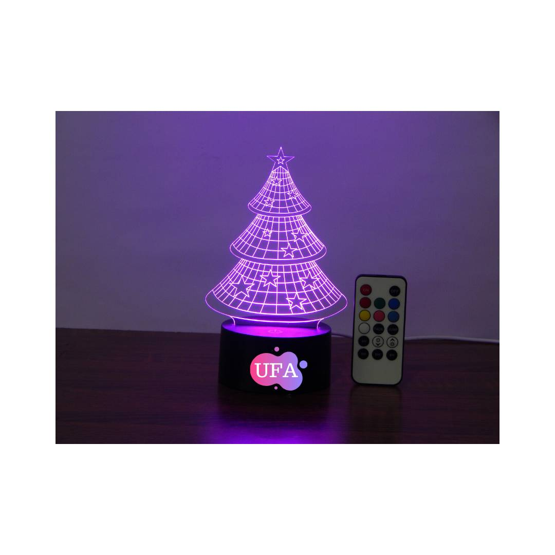 LAMPU TIDUR LED UFA LIGHT CHRISTMAS TREE RGB 7 WARNA