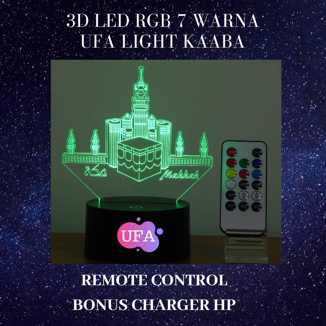 3D LED RGB 7 WARNA  UFA LIGHT MAAKAH0