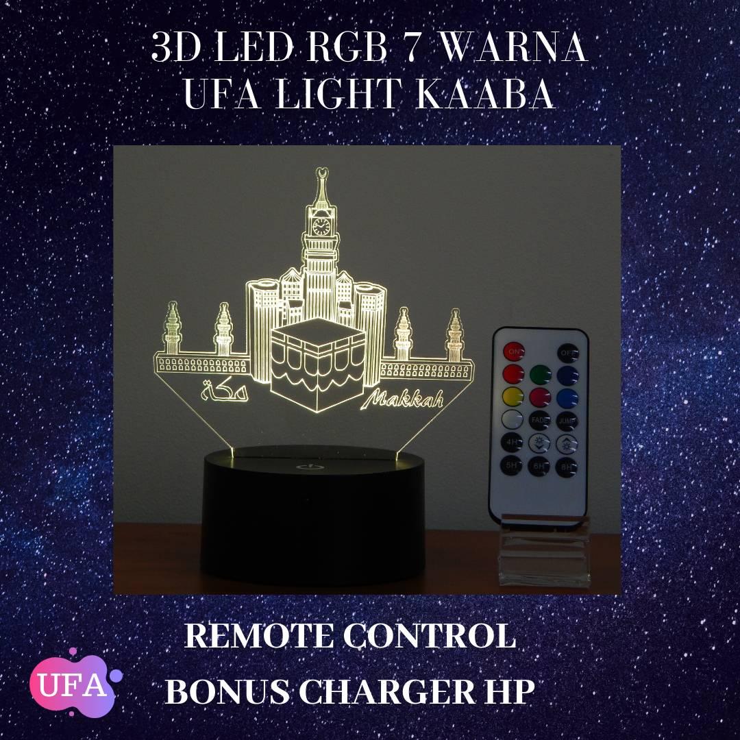 3D LED RGB 7 WARNA  UFA LIGHT MAAKAH1