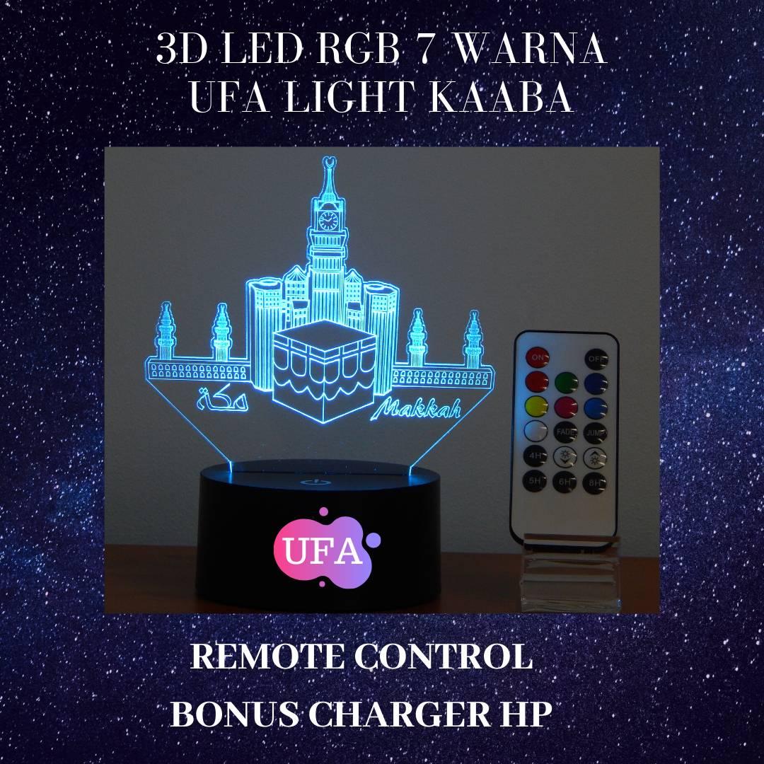 3D LED RGB 7 WARNA  UFA LIGHT MAAKAH2