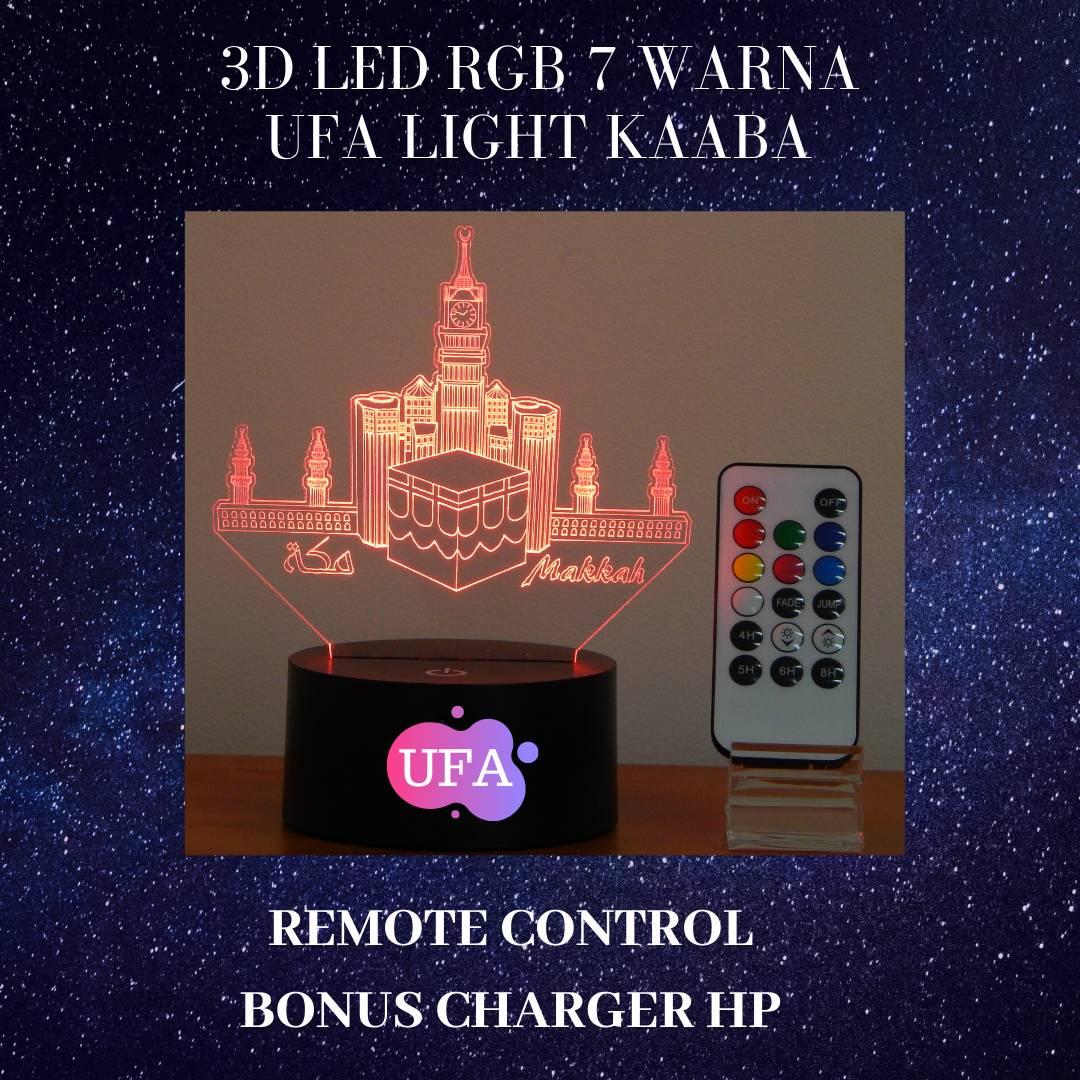 3D LED RGB 7 WARNA  UFA LIGHT MAAKAH3