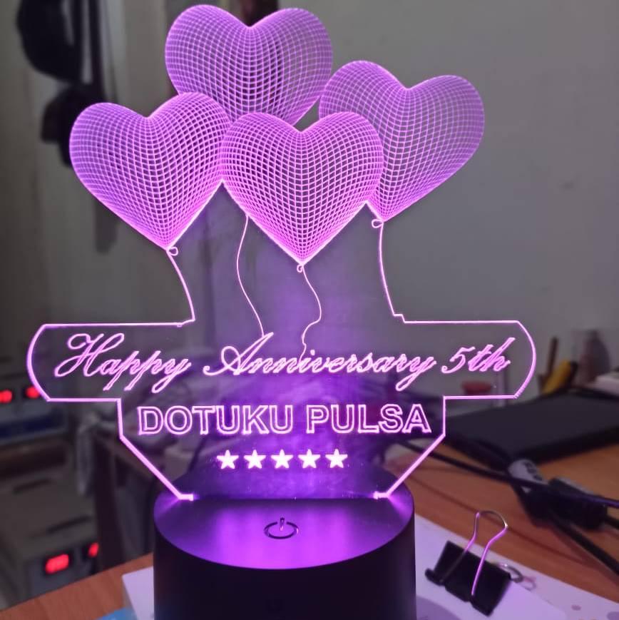 Custom Nama Lampu Tidur Happy Anniversary Happy Birthday Happy Graduation0
