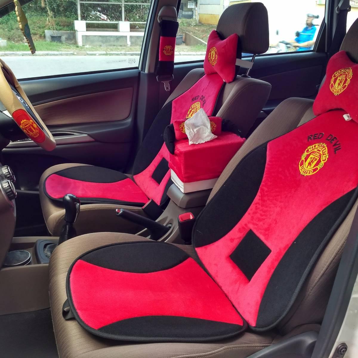 Car Set / Sandaran Jok Mobil Motif Bola