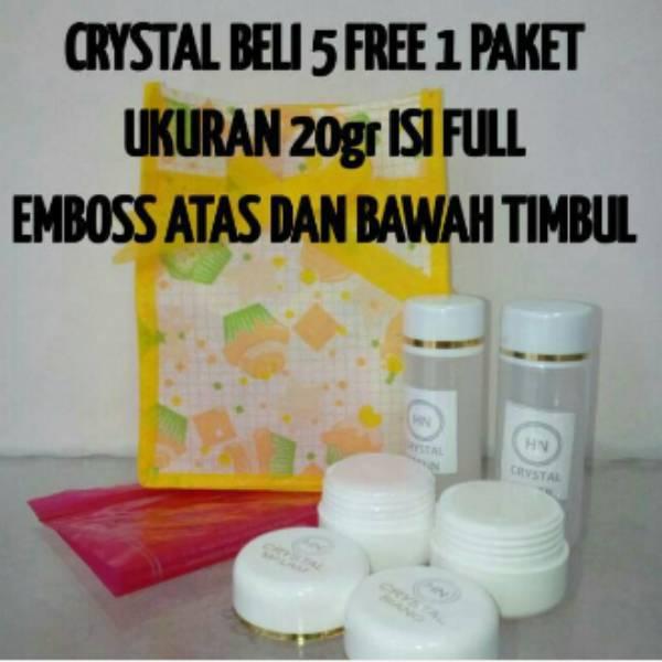 Cream Hn Crystal 25gr Original Emboss Atas & Bawah