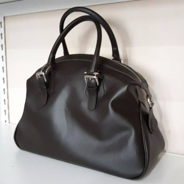 Black Lambskin Bowling Bag1