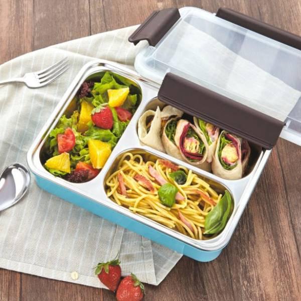 Lunch Box Stainless Tedemei / Kotak Makan Tahan Panas Sekat 3