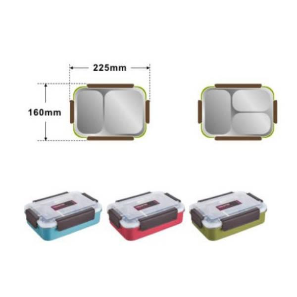 Lunch Box Stainless Tedemei / Kotak Makan Tahan Panas Sekat 31