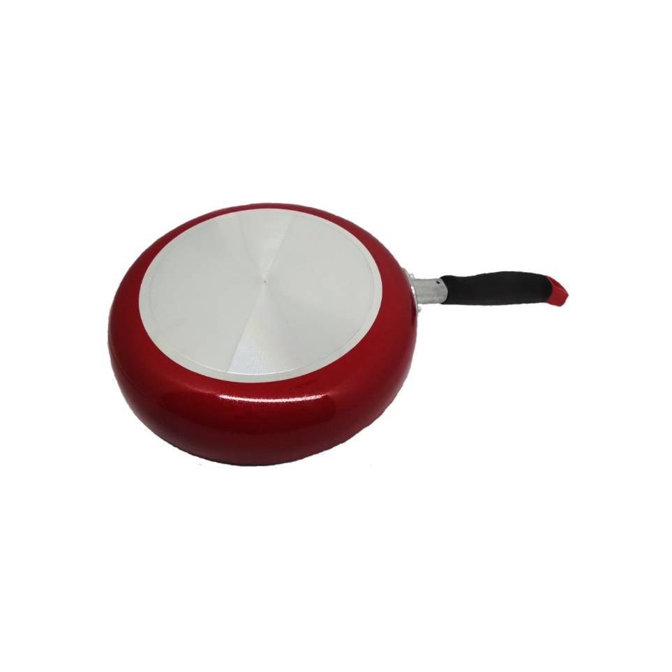 Wajan Penggorengan Fry Pan 22 Cm Gagang Merah Marble1