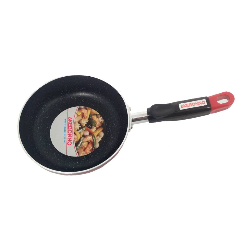 Wajan Penggorengan Fry Pan 22 Cm Gagang Merah Marble