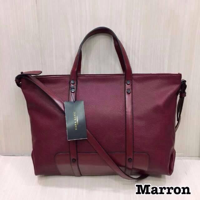 Tas Zara Basic --- Maroon