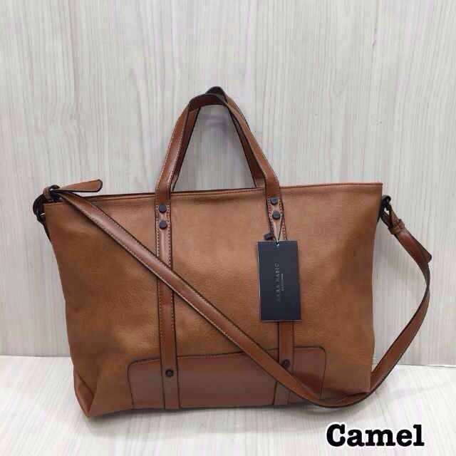 Tas Zara Basic --- Camel Brown0