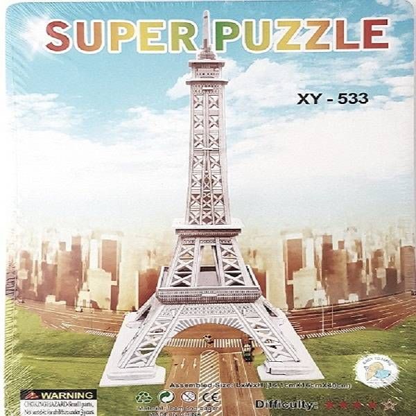 Puzzle 3d - Eiffel Tower Paris France0
