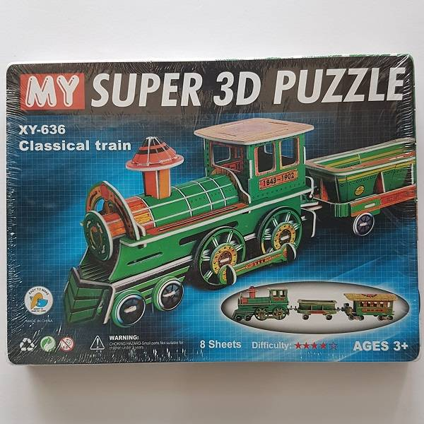 Puzzle 3d - Classical Train