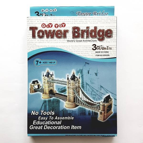 Puzzle 3d - Diy Toy Tower Bridge