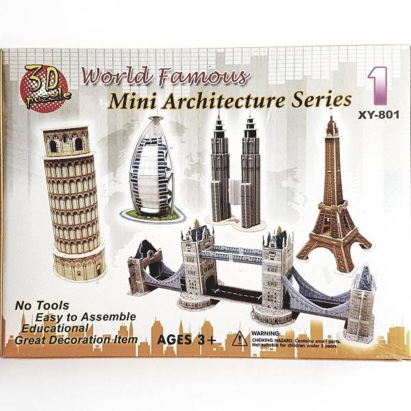 Puzzle 3d - World Famous Mini Architecture Series 1
