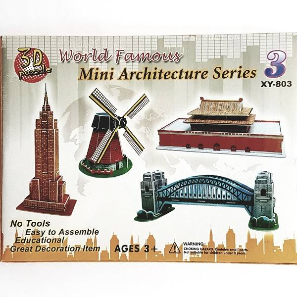 Puzzle 3d - World Famous Mini Architecture Series 3