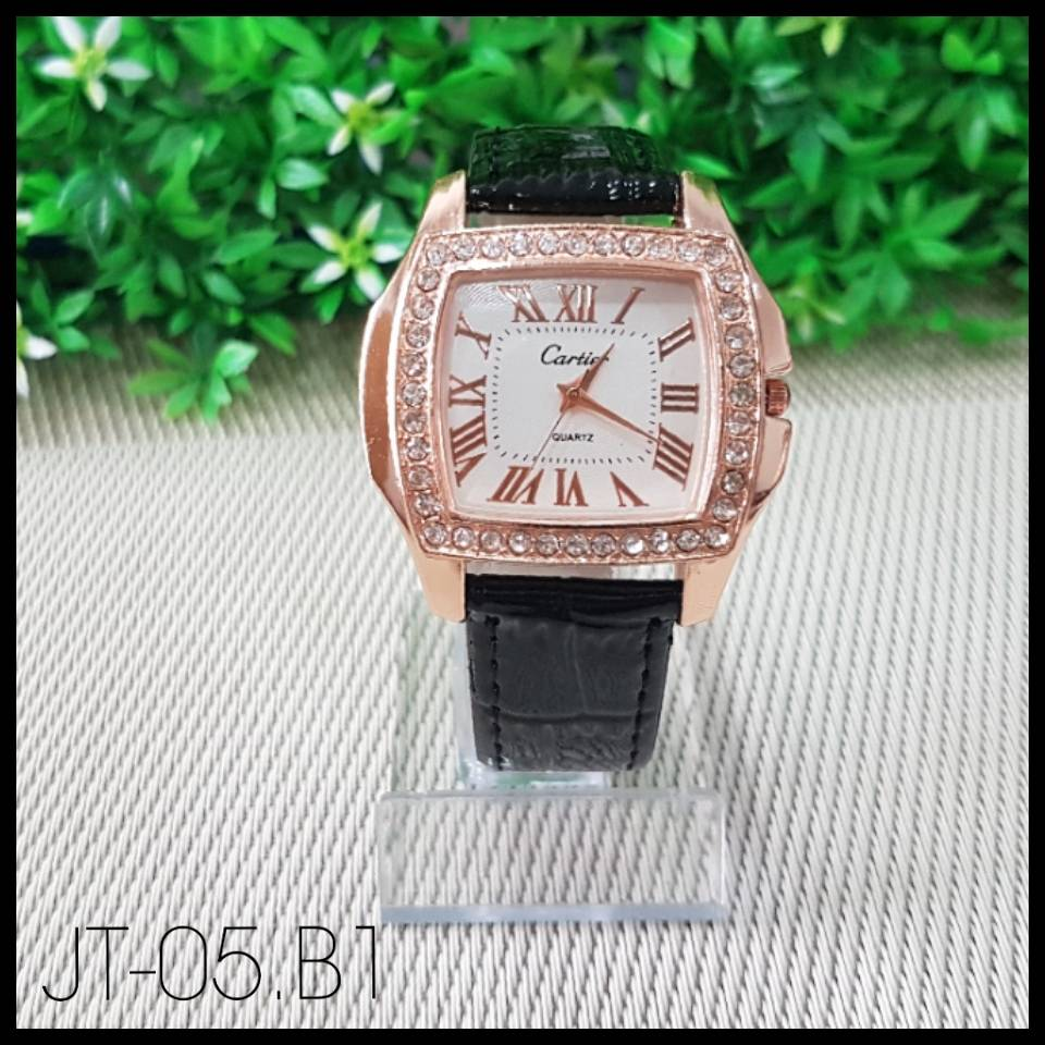Jam Tangan Import- Cartier - Black