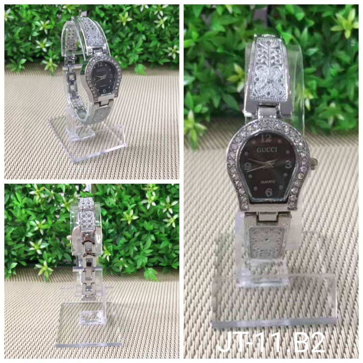 Jam Tangan Gucci Jantung Ukir Silver1