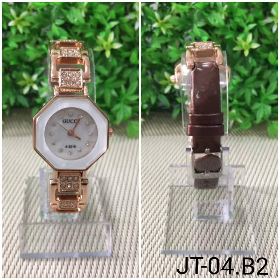 Jam Tangan Gucci Segi 8 A-2216 Brown