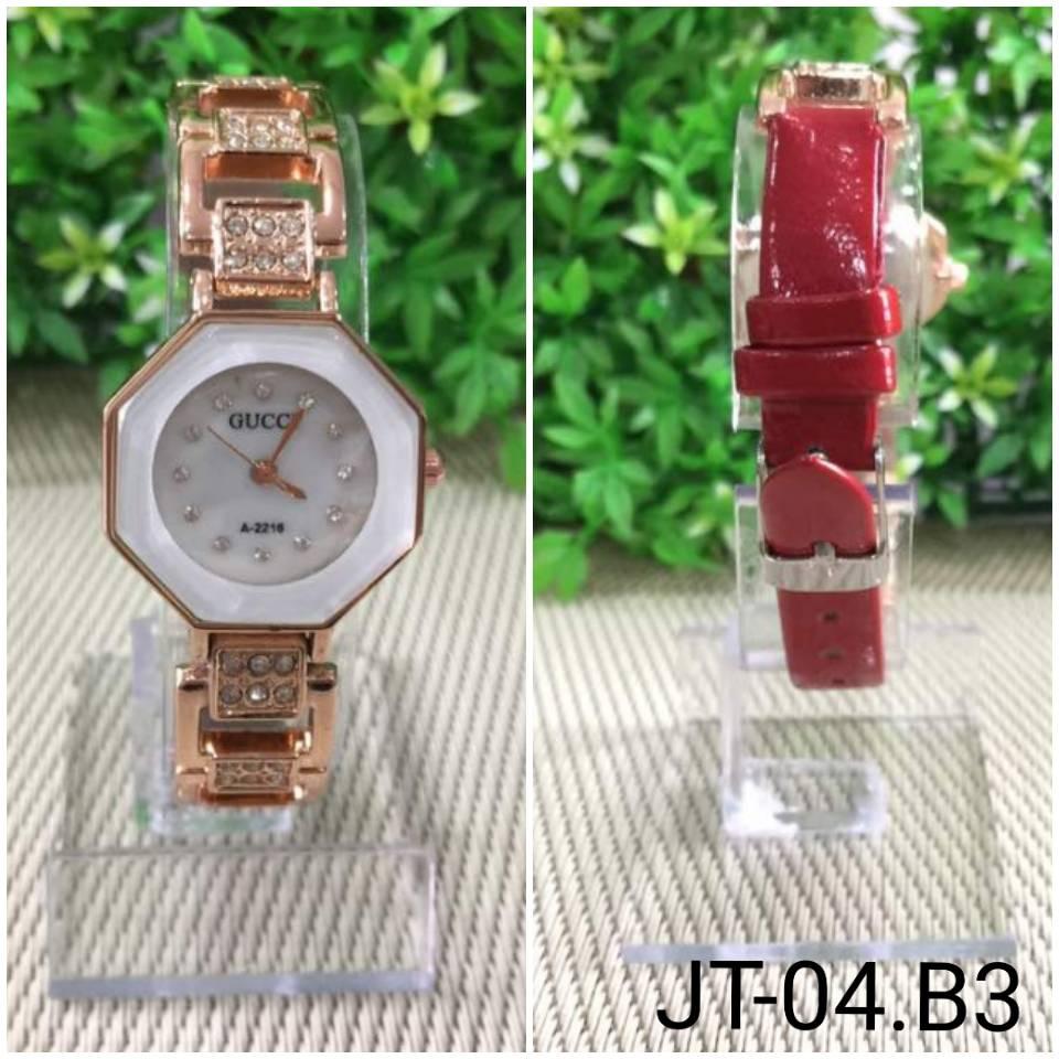 Jam Tangan Gucci Segi 8 A-2216 Red