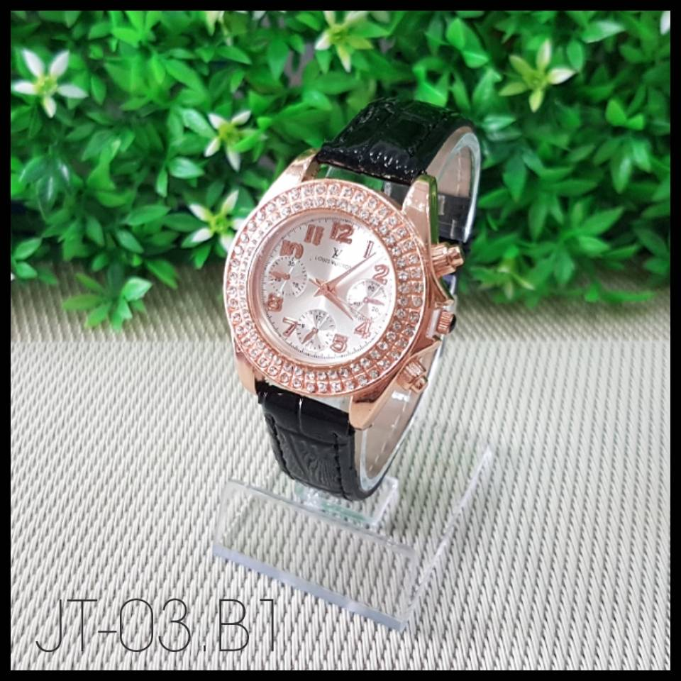 Jam Tangan Louis Vuitton Black0