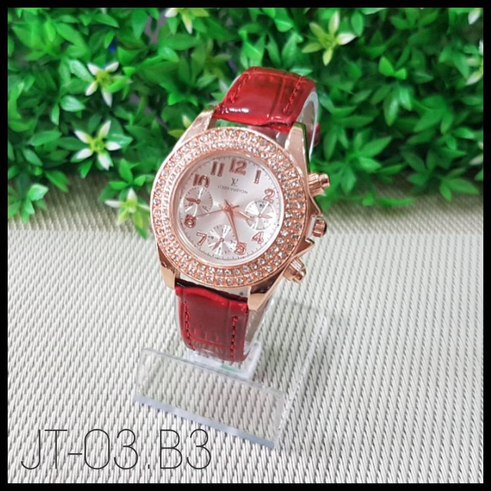 Jam Tangan Louis Vuitton Red