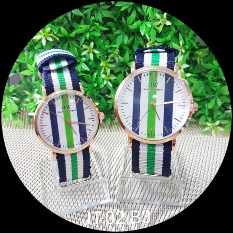 Jam Tangan Dw Motif - Besar - Green Dblue
