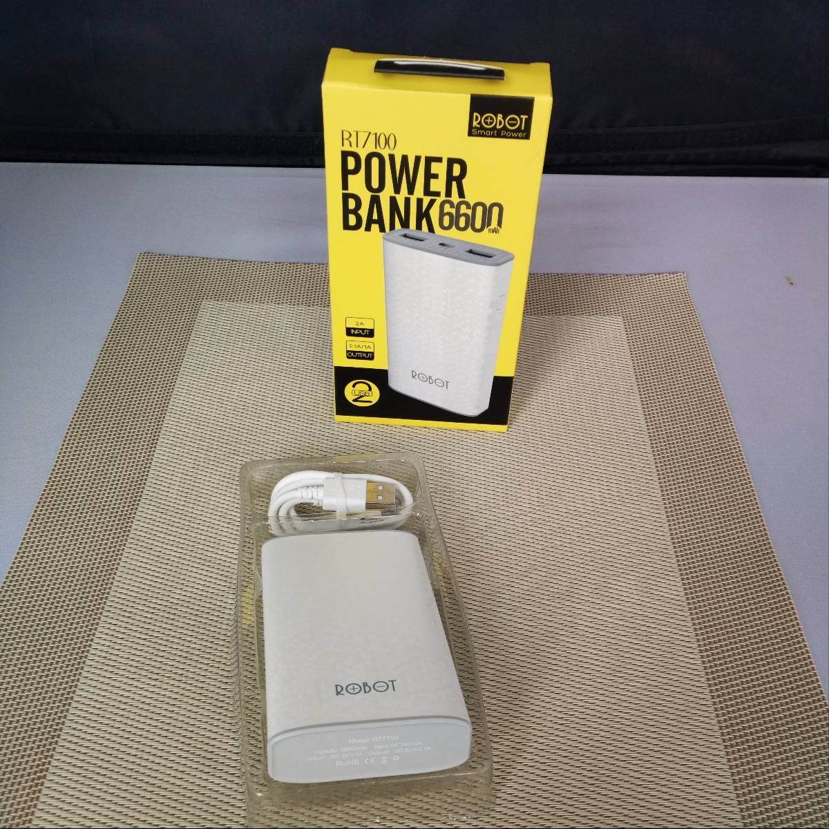 Powerbank Robot 6600mah Dual Usb