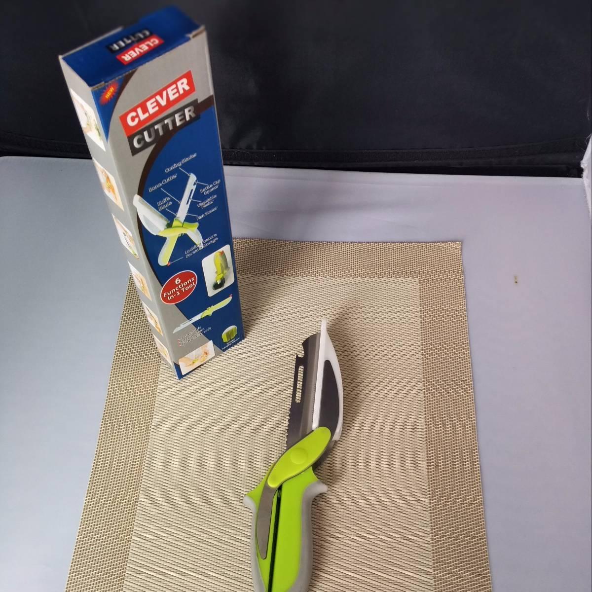 Clever Cutter Pisau Dapur Serbaguna 6 In 11