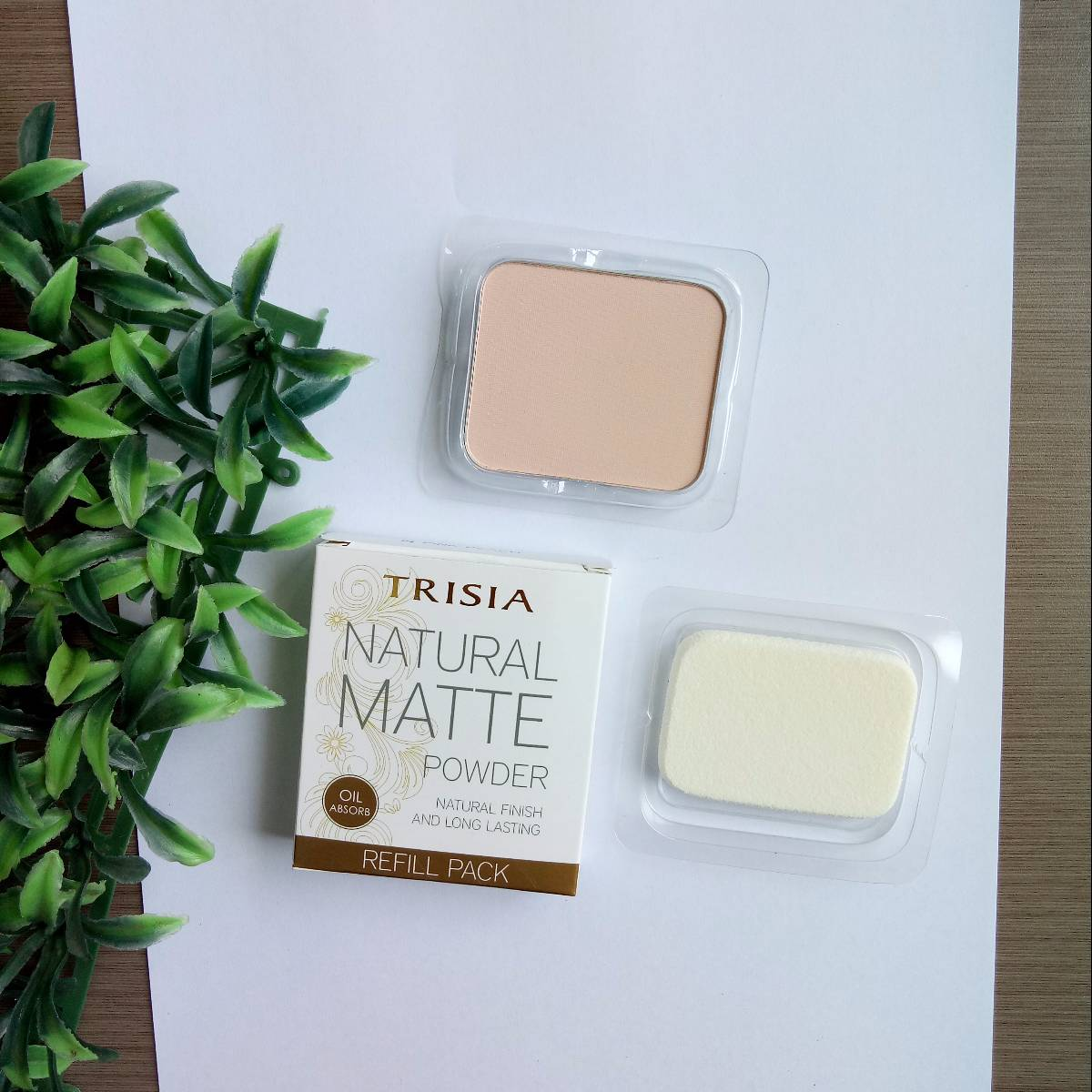Trisia Two Way Cake Twc Natural Matte Powder Refill Bedak Wajah Isi Ulang