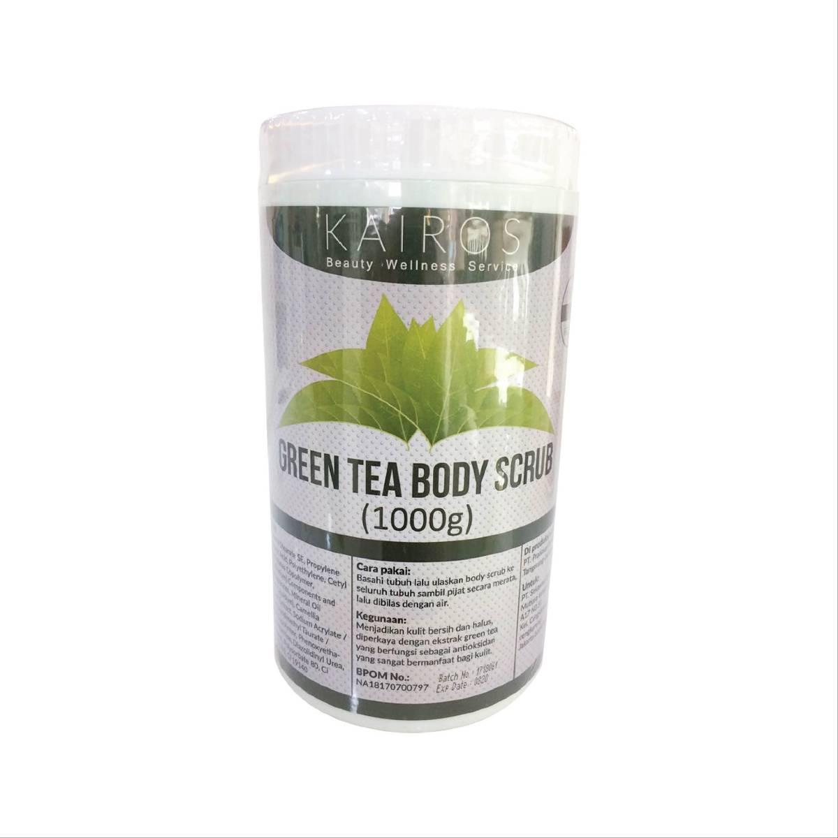 Kairos Green Tea Body Scrub - Scrub Yang Kaya Akan Antioksidan Sehingga Sangat Bermanfaat Bagi Kulit
