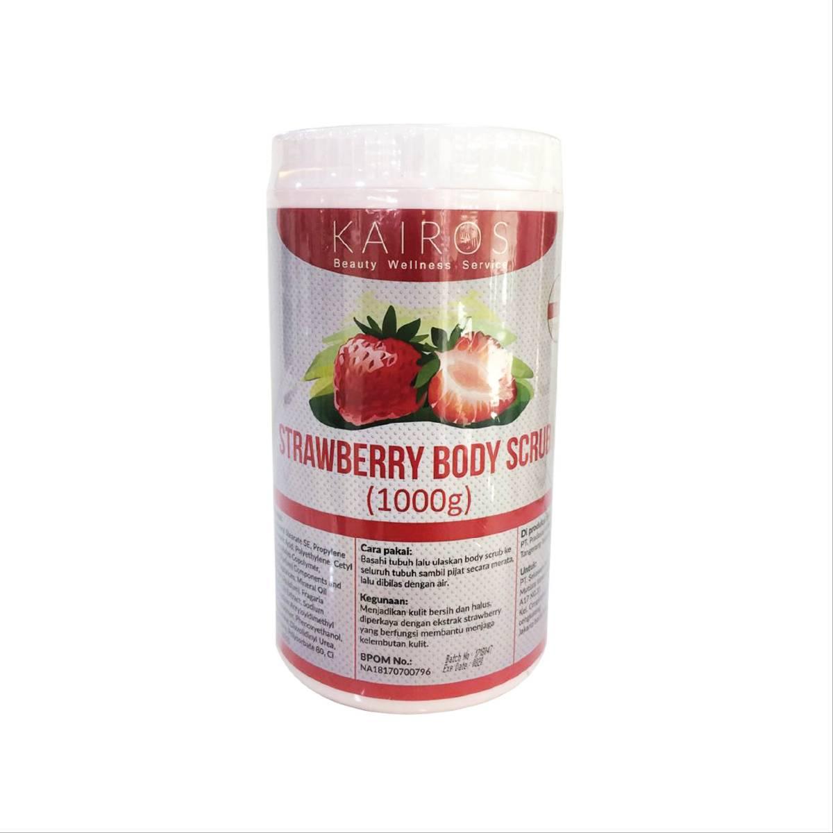 Kairos Strawberry Body Scrub - Scrub Yang Bermanfaat Untuk Membantu Menjaga Kelembutan Kulit