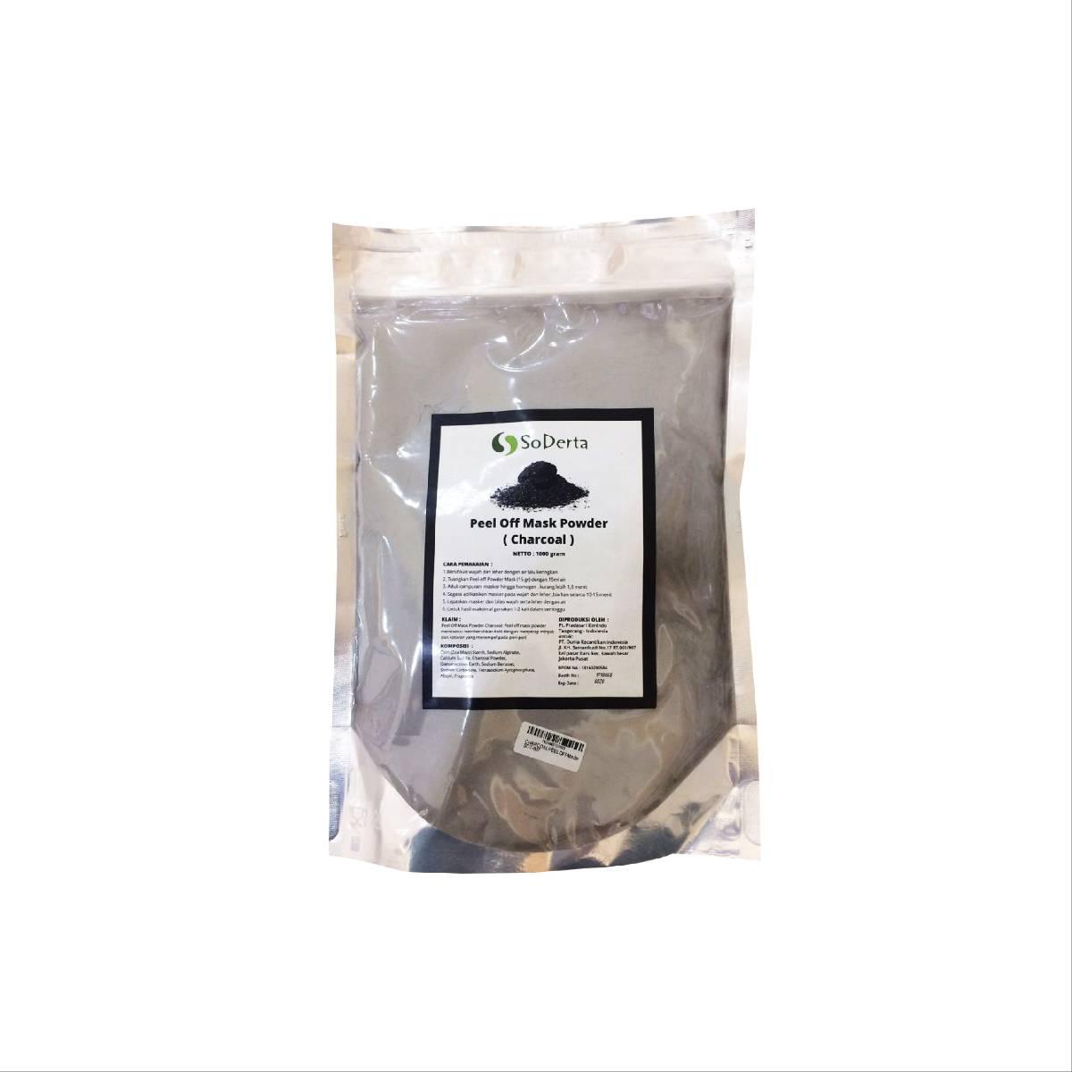 Soderta Charcoal Peel Off Mask 1kg- Kulit Berminyak, Berjerawat Dan Detox
