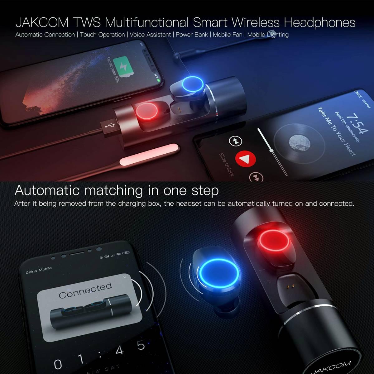 Jakcom TWS Multifunctional Smart True Wireless Headset Pintar Earphone1