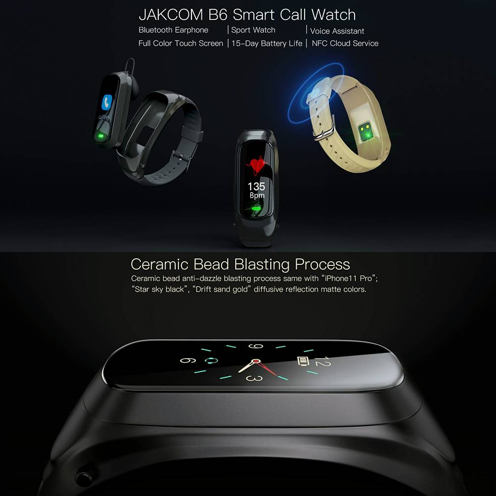 Jakcom B6 Smart Call Watch Fitness Sport Smartwatch Bluetooth Earphone1
