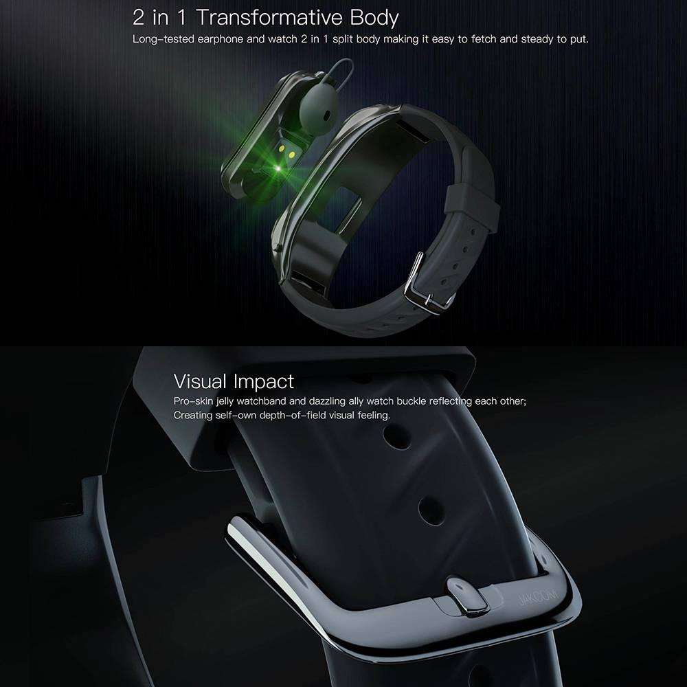 Jakcom B6 Smart Call Watch Fitness Sport Smartwatch Bluetooth Earphone2