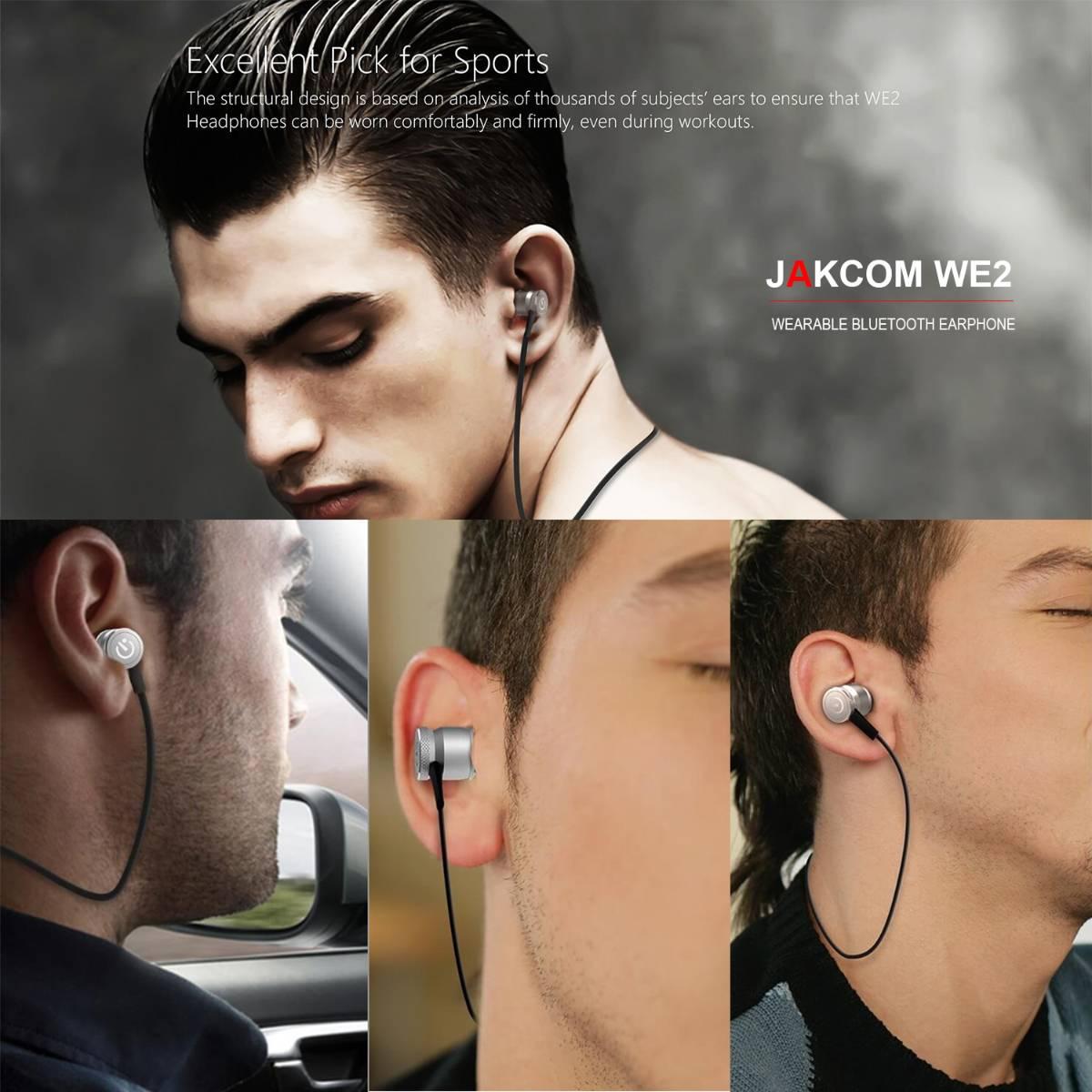 Jakcom WE2 Wearable Bluetooth Earphone Wireless Sport Headphones4