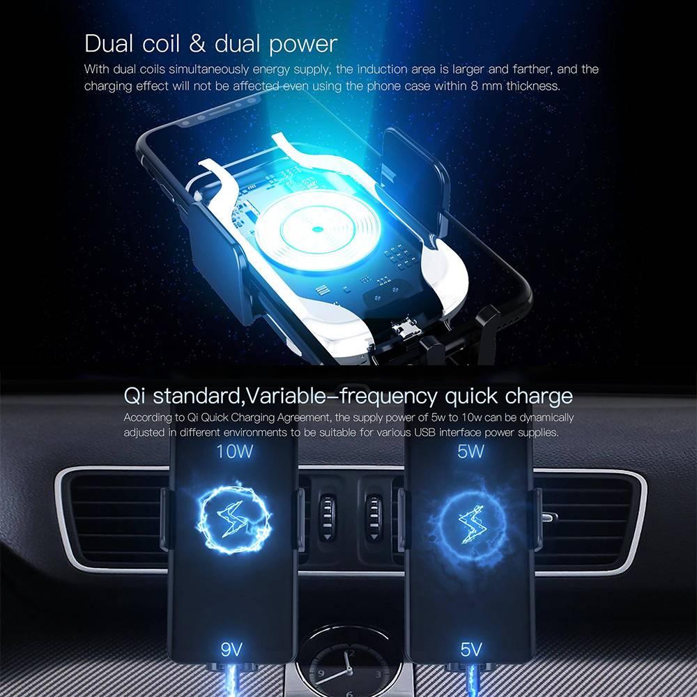 Jakcom CH2 Smart Wireless Car Charger Holder Nirkabel Qi Mobil Pintar4