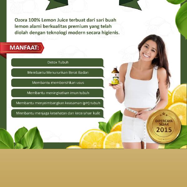 Lemon Juice ozora botol1