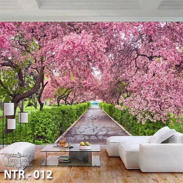 3D Custom Wallpaper Dinding - Motif Sakura | NTR - 0120