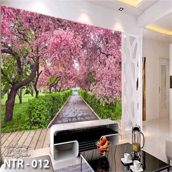 3D Custom Wallpaper Dinding - Motif Sakura | NTR - 0121