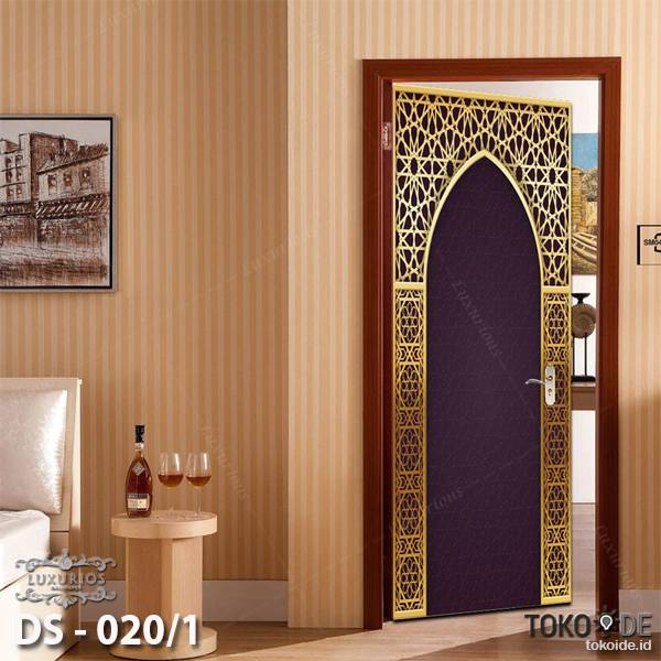3D Door Sticker Custom   Uk 77 x 200 cm - DS - 020/1 Motif Islami0