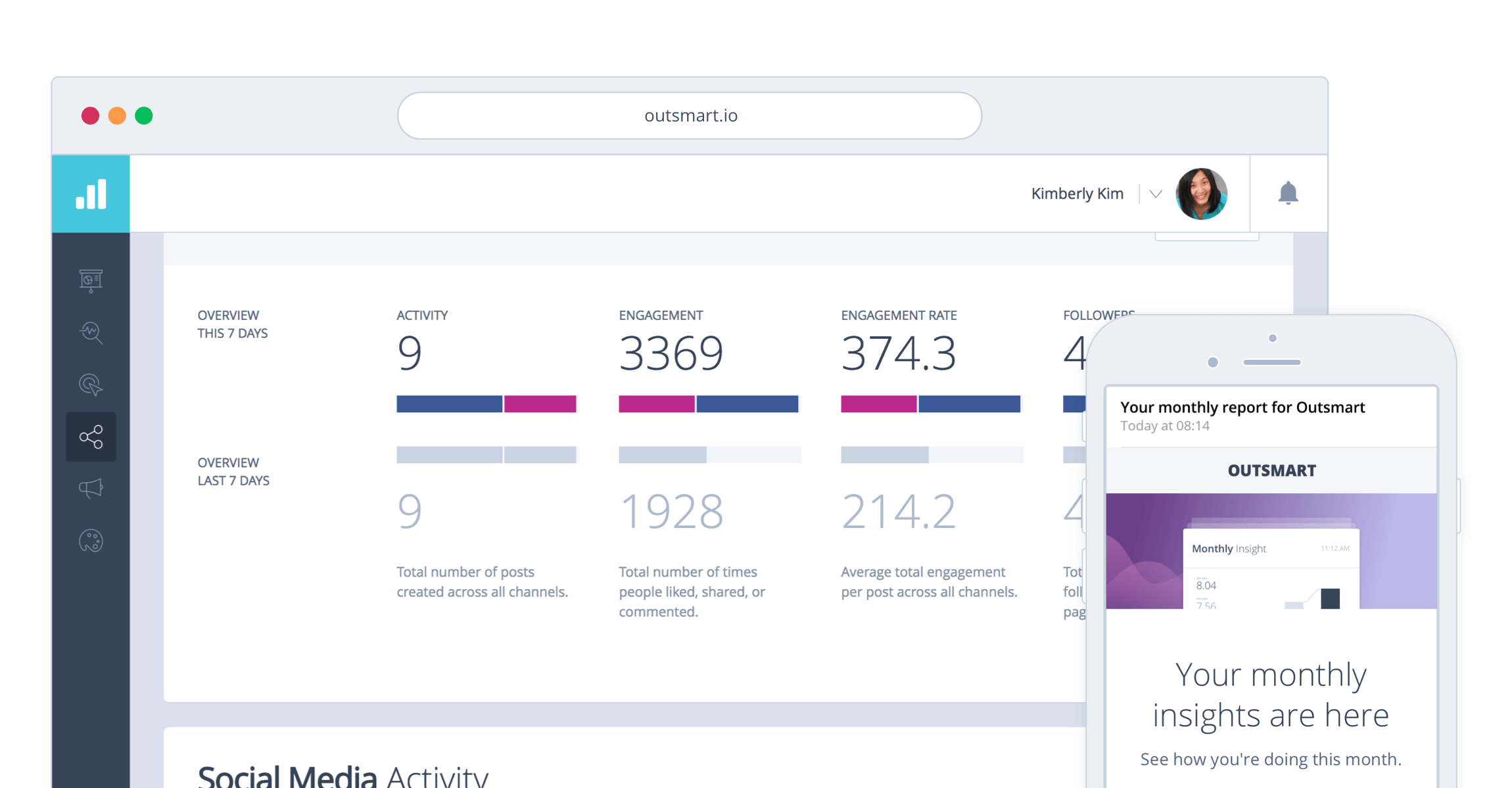Outsmart Facebook analytics reports that gets delivered directly to your inbox